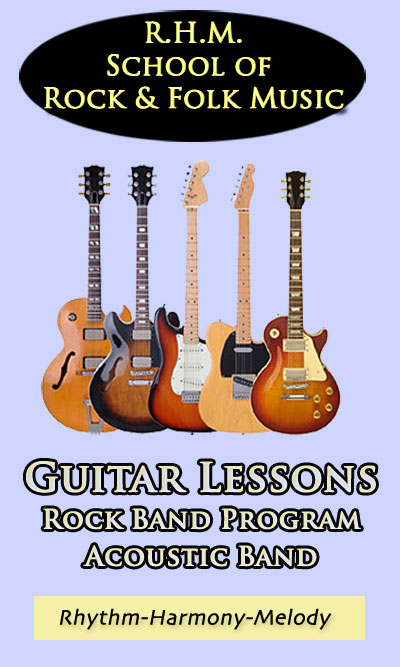 RHM  School of Rock & Folk Guitar Lessons